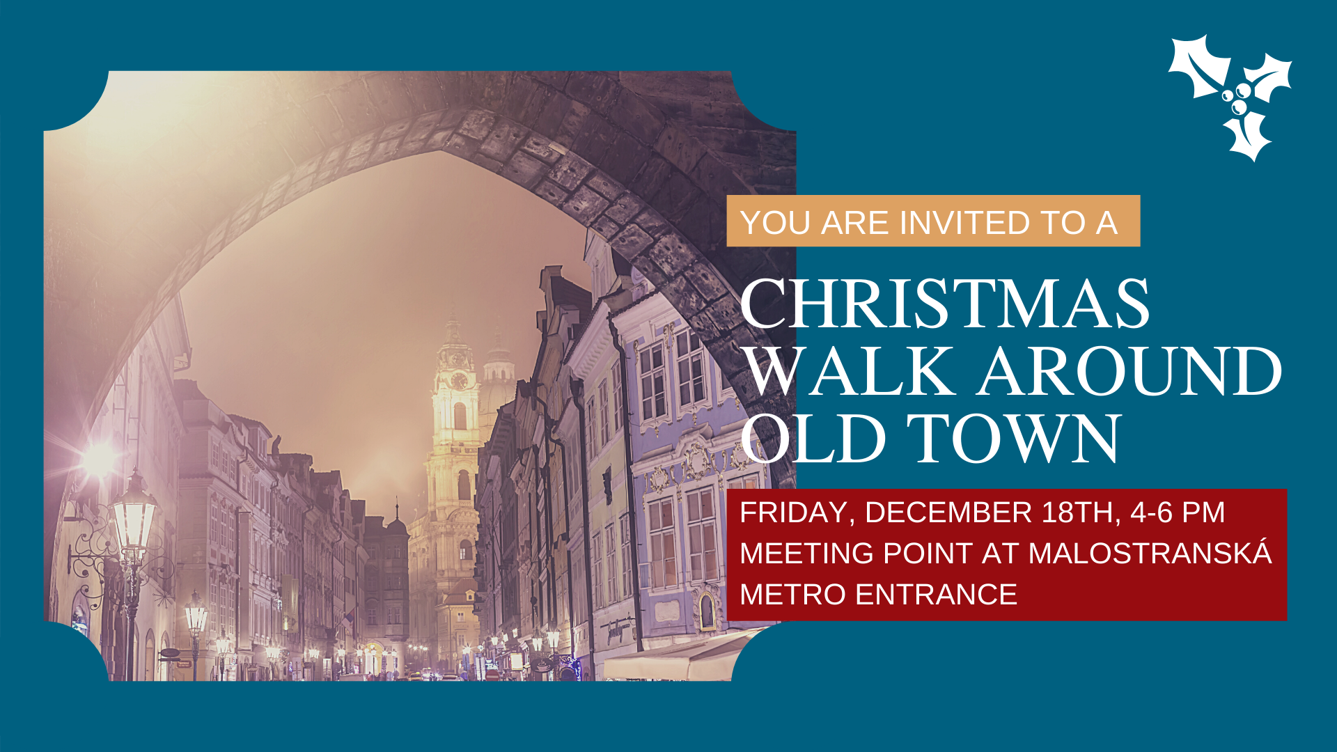 Christmas Walk around Old Town for MIMG Students